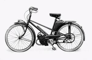 Mopederna såg från början mer ut som cyklar. Här en Mobylette från franska Motobécane, som senare köptes upp av Yamaha.