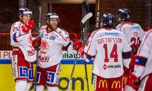 Västervik kunde rädda sig kvar i Hockeyallsvenskan 2017/2018. Foto: Suvad Mrkonjic / Bildbyrån