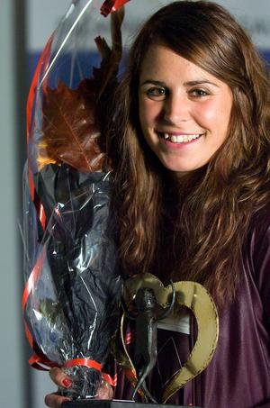 Anna Haag prisad på Dalarnas idrottsgala 2008. Foto: Johan Larsson