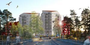 Många har engagerat sig i hur nya hus vid det södra brofästet ska byggas. (Bild: Arcum)