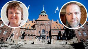 Kommunstyrelsens ordförande AnnSofie Andersson (S) och kommundirektör Anders Wennerberg.
