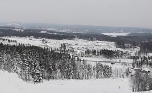 Det nya bostadsområdet Lilla Källviken sett uppifrån Källviksbacken.