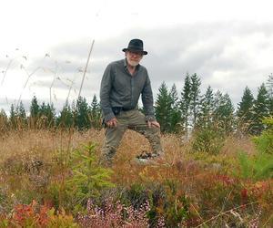 Gunnar Lindholm på  toppen av Morberget .