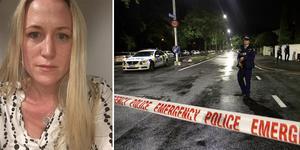 Johanna Hartung från Gävle bor i närheten av moskén där nära femtio personer sköts ihjäl i ett terrordåd. Bild: Privat/Mark Baker TT