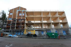 60 lägenheter ska det bli. Det nya vård- och omsorgsboendet byggs till största delen i massivt svenskt trä.