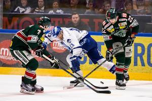 Tingsryd besegrade Leksand med 4–3 efter förlängning. Bild: Daniel Eriksson/Bildbyrån