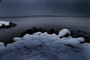 Bilden är tagen från nordvästra sidan av Vidinge. Sundskär syns vid horisonten. Foto: Anders Sjöberg