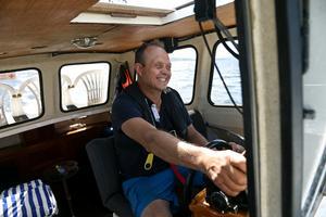 Heikki Kärnä tänker fortsätta att driva Sjötaxi Sundsvall så länge som han tycker att det är roligt.