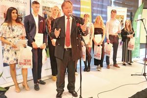Gymnasiechef Staffan Hörnberg var en av flera talare under kvällen på galan.
