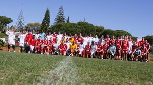 Lagbild från träningsmötet mellan Degerfors IF och portugisiska Olhaense.