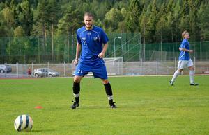 Mittfältaren Jakob Pedersen under ett träningspass på Baldershovs IP.