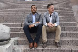 Krystopher Valderaama och Daniel Wågström är kundansvariga hos personaluthyrnings- och rekryteringsföretaget Professionals Nord, som har öppnat kontor i Örnsköldsvik.