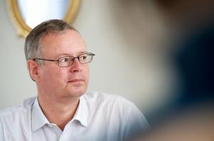 Någon idrottsfantast är inte kommunalrådet, men betydelsen av att få ett stort evenemang till Falun gjorde att han lade ner ett stort jobb för att få skid-VM till staden. Foto:Kjell Jansson