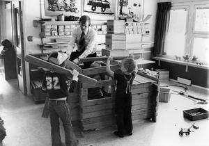 Förskola i Hökåsen. 12 mars 1976