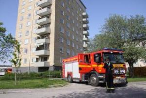 Brandkåren var snabbt på plats och kunde konstatera att tillbudet slutat lyckligt.