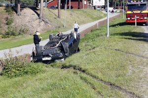 Olyckan inträffade i höjd med Nore camping utanför Ljusdal.