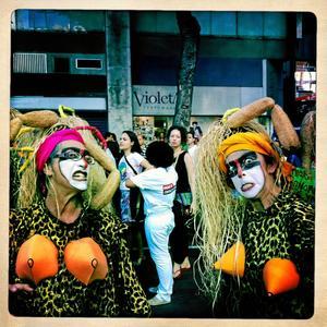 Farliga? Kvinnor tar plats i Rio de Janeiro. Här på en stor manifestation i måndags. När FN arrangerar en debatt är uttryckssätten lugnare. Bild: Maria Elisson