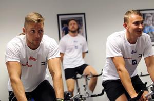 Ready var på träningsläger i Bollnäs i höstas. Till vänster i bild är Peter Haug, lagkaptenen och veteranen i årets säsongsupplaga.