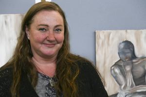 Ulrika Lepik var på plats med tre verk.