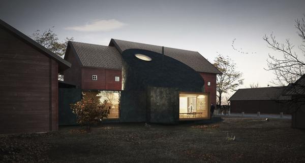 """Byggnaden kommer förutom att vara en entrébyggnad Västanfors även fungera som en samlande plats för """"Ekomuseum"""" i Bergslagen."""