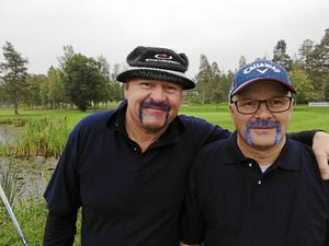 Golfkompisar Jouni Lappalainen och Mats Larsson.