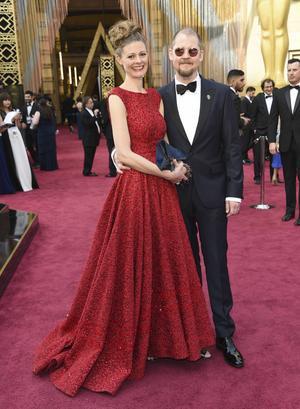 Eva Von Bahr och Love Larson på röda mattan inför Oscarsutdelningen. Den svenska duon fick åka hem tomhänta, men var ändå mycket nöjda med galan.