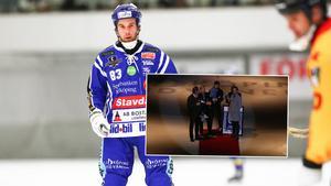 Daniel Andersson tackades av i Villa Lidköping. Foto: Rikard Bäckman/Bandyplay.se