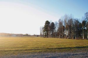 Här på Älvvallen är det tänkt att fotbollshallen ska ligga.