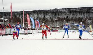 Herrfinalen bjöd på en tajt upploppsstrid där norske Håvard Solås Taugböl vann före Karl-Johan Westberg och Teodor Peterson.