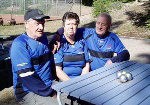 Karl-Erik Lagerqvist, Birgitta Nordin och Bert Ekendahl. Bild: Privat.