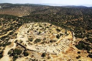 Vy över ruinerna i Shaarayim, en stad från kung Davids tid.   Foto: Pascal Partouche/Skyview