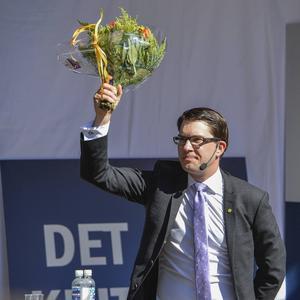 Kommer till stan: Jimmie Åkesson (SD).
