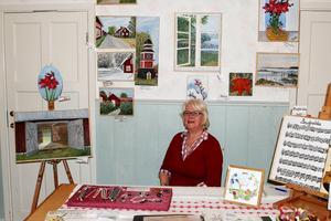 Lokala motiv. Gunilla Jansson visade upp sin konst med lokala motiv.