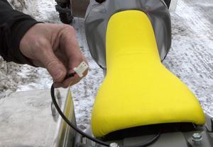 Totte Gottarps Honda är utrustad med elektrisk uppvärmning av sadeln.