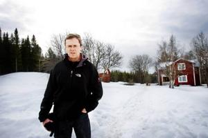 ... torpet där Mikael Nyberg och hans familj bor i dag.