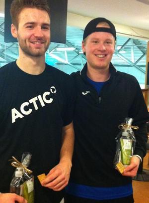 Sebastian Sikh (vänster) och Anton Johansson (höger).