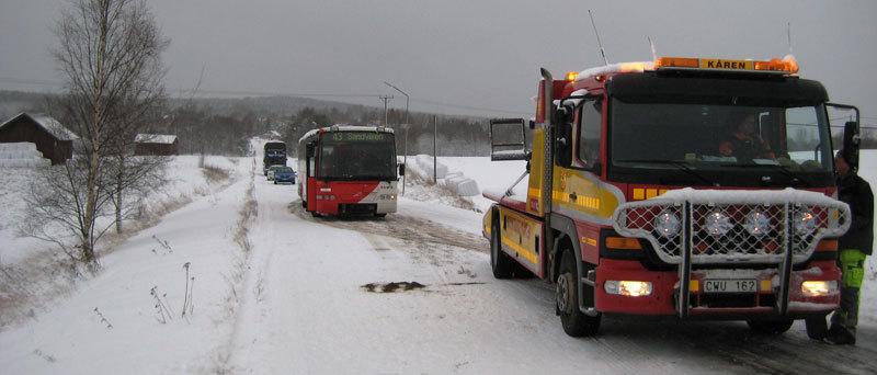 Trasigt fordon pa vag 162