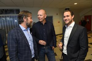 Tre legendarer på plats i Fjällräven Center, Peter Forsberg, Mats Sundin och Markus Näslund.