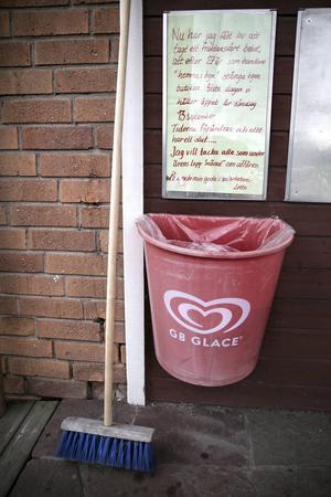 En löpsedel med det dystra beskedet för invånarna i Tängerdalen.