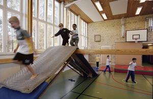 Gymnastik. Minst en timmes rörelse per dag utöver skolidrotten, föreslår skribenten.Foto: Erik G Svensson/TT