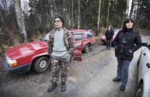 Vargens vänner. Kim Aronsson, Arina Bolander och Bibi Noris tycker att skyddsjakten har inletts för snabbt.bild: per knutsson