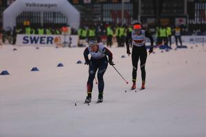 Emma Wikén ut på den andra sträckan för Åsarna.