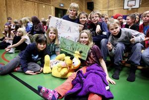 Runt 70 personer var publik i Sörviks gymnastiksal och båda lagen hade sina hejaklackar, men som sig bör hade Sörvik som hemmafavoriter bästa tifot.