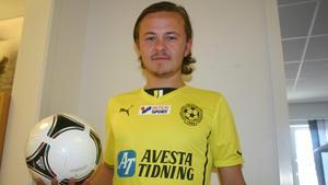 Tror på 2-1. Viktor Hansson, central mittfältare i SAIF.