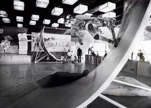 Skateboardåkare i Folkets park i oktober 1978.