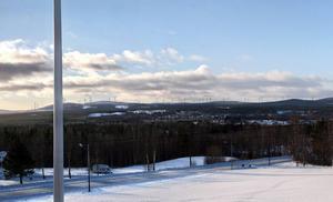 Den planerade vindkraftsparken från Nordanhå. (Bildmontage)
