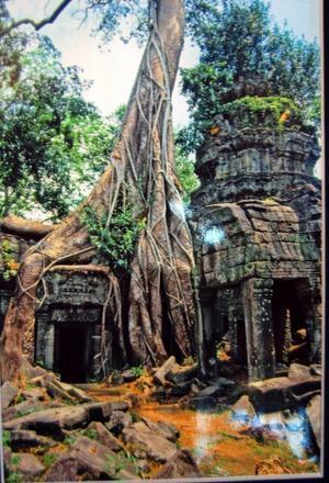 Tempel. Ett Khmertempel Anqkor-Wat från 1200-1400 talen i Kambojda.Foto: ROLAND LITHANDER.