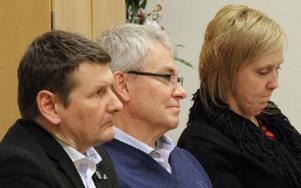 Gamla Byn fanns på fullmäktigemötet med vd Jan Näslund, ekonomichef Örjans Bengs och styrelseordförande Susanne Berger (S). Foto: Eva Högkvist