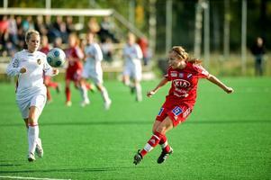 Linda Brännström gjorde 2-0-målet. Foto:Jonatan Svedgård