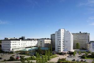 En översiktsbild över sjukhusområdet